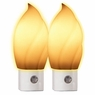 Flame Style Automatic Night Light, 2 pieces