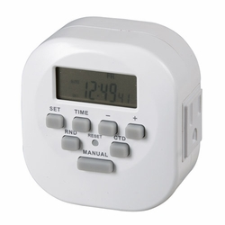 Double Outlet Digital Timer - Grounded
