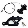 96-04 Mustang Clutch Quadrant Cable & Firewall Adj Kit Black