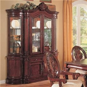 Buffet/Hutch by Coaster Fine Furniture Tabitha Cherry Collection 635-101034