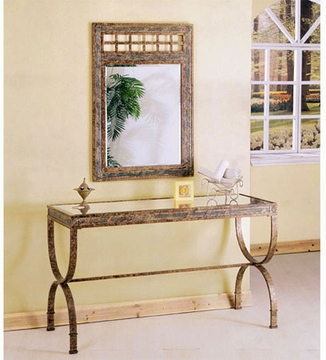 2 Piece Console Table Set With Mirror by Acme 491-8633-BDF1-2