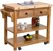 Sedona Buthcer Block Kitchen Island Cart by Sunny Designs 441-2178RO