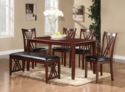 Brooksville 6 Pieces Dinette Set (Table, 4 Stools, Bench) by Homelegance Furniture 165-2459