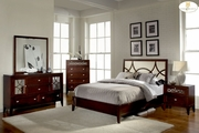 Simpson Queen Bed with Wood or Mirror Insert by Homelegance Furniture 165-2134-1