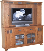 "Media Hutch & TV Console 72""W by Sunny Designs Furniture Sedona Collection 441-3322RO"