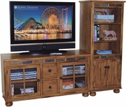 "TV Console 52""X20""X27.5""H by Sunny Designs Furniture Sedona Collection 441-2753RO-52"