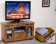 TV Console With Game Drawer by Sunny Designs Furniture Sedona Collection 441-3359RO-G