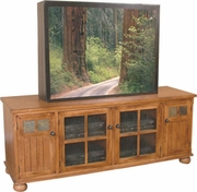 "TV Console 72""W by Sunny Designs Furniture Sedona Collection 441-2751RO-TC"