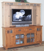TV Console by Sunny Designs Furniture Sedona Collection 441-3322RO-TC