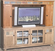 "Media Hutch 73""W (48""X32""H TV Space) by Sunny Designs Furniture Sedona Collection 441-2751RO-MH3"