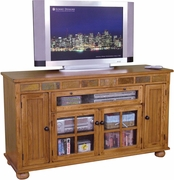 "Counter Height TV Console 62""W by Sunny Designs Furniture Sedona Collection 441-2728RO"
