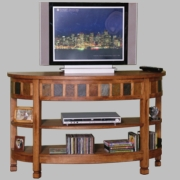 Sedona Curved Entry / TV Console by Sunny Designs 441-2135do