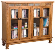 "Bookcase With 4 Doors 49""W by Sunny Designs Furniture Sedona Collection 441-2813RO"