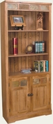 "Bookcase With Doors 30""W x 72""H by Sunny Designs Furniture Sedona Collection 441-2862RO-BD"