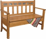 Deacons Bench With Storage by Sunny Designs Furniture Sedona Collection 441-1594RO