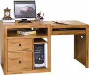 Expandable Computer Desk by Sunny Designs Furniture Sedona Collection 441-2917RO