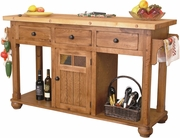 Kitchen Island Table by Sunny Designs Furniture Sedona Collection 441-2522RO