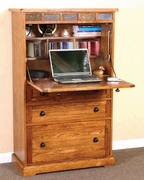 "Laptop Armoire 32""W by Sunny Designs Furniture Sedona Collection 441-2848RO"