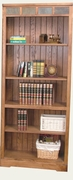 "Open Bookcase 30""W x 72""H by Sunny Designs Furniture Sedona Collection 441-2862RO-BO"