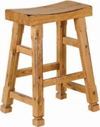 "Saddle Seat Barstool 24""H (Set of 2) by Sunny Designs Furniture Sedona Collection 441-1720RO"