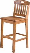"Slatback Barstool 30""H (Set of 2) by Sunny Designs Furniture Sedona Collection 441-1821RO"