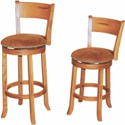 "Swivel Barstool With Back 24""H (Set of 2) by Sunny Designs Furniture Sedona Collection 441-1882RO"