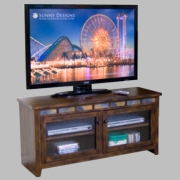 "52"" TV Console, 52X18X25H by Sunny Designs Furniture Sedona Collection 441-3398RO-52"
