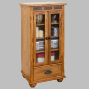 Audio Pier With Drawer, 24X18X48H by Sunny Designs Furniture Sedona Collection 441-3381RO-AP1