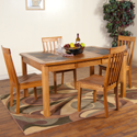 "Extension Table With Slate Top 42""-60""X42""X30""H by Sunny Designs Furniture Sedona Collection 441-1273RO"