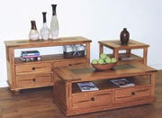 Coffee Table With Drawers & Casters 48X24X18H by Sunny Designs Furniture Sedona Collection 441-3163RO-C