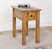 Chair Side Table, 15X25X26H by Sunny Designs Furniture Sedona Collection 441-3143RO-CS