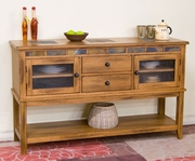 Server With 2 Drawers, 60X18X36H by Sunny Designs Furniture Sedona Collection 441-2446RO-D