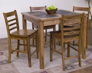 "Extension Table With Slate Top 42""-60""X42""X36""H by Sunny Designs Furniture Sedona Collection 441-1274RO"
