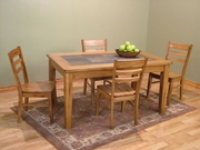 "Table With Slate Top 36"" x 60"" by Sunny Designs Furniture Sedona Collection 441-1170RO"