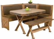 Breakfast Nook Set With Side Bench by Sunny Designs Furniture Sedona Collection 441-0222RO
