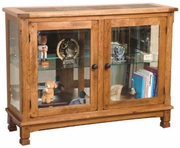 "Console Curio 46""W by Sunny Designs Furniture Sedona Collection 441-2503RO"