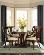 5 Piece Dining Set With Table and 4 Side Chairs by Coaster Fine Furniture Cresta Collection 635-101181-BDF1