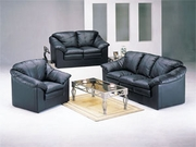 3 Piece Leather Sofa Set With Sofa, Loveseat and Chair by Acme Furniture Metropolitan Collection 491-5510A-BDF1-3