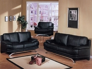 3 Piece Leather Sofa Set With Sofa, Loveseat and Chair by Acme Furniture Millenium Collection 491-5501B-BDF1-3