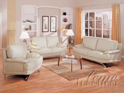 3 Piece Leather Sofa Set With Sofa, Loveseat and Chair by Acme Furniture Millenium Collection 491-5505B-BDF1-3