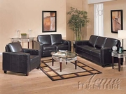 3 Piece Leather Sofa Set With Sofa, Loveseat and Chair by Acme Furniture Modena Collection 491-5740-BDF1-3