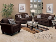 3 Piece Microfiber Sofa Set With Sofa, Loveseat and Chair by Acme Furniture Westwood Collection 491-5925-BDF1-3