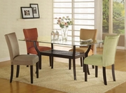 5 Piece Dining Set With Table, Glass Top and 4 Side Chairs by Coaster Fine Furniture Cross Collection 635-101491-BDF1-5D