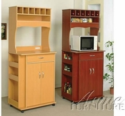 Cherry Finish Kitchen Cart by Acme Furniture Sterling Collection 491-2325