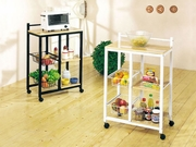 White Finish Kitchen Cart by Acme Furniture 491-2668