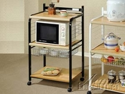 Black Kitchen Cart by Acme Furniture Sonic Collection 491-12114