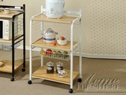 White Kitchen Cart by Acme Furniture Sonic Collection 491-12112