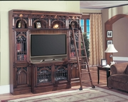"5 Piece Library With 60"" Plasma Entertainment Center by Parker House Furniture Barcelona Collection 362-BAR-412I-BDF1-5"