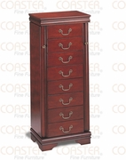 Jewelry Armoire by Coaster Fine Furniture Louis Philippe Cherry Collection 635-3988
