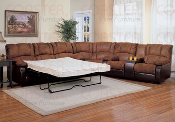 3 Piece Sectional With Queen Sleeper by Coaster Fine Furniture Ronan Collection 635-500623Q-BDF1-3